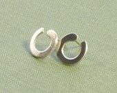 Enso Inspired Open Circles Post Earrings