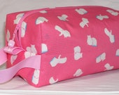Happy Hippos on Pink Project Bag