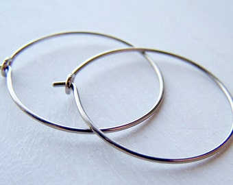 hypoallergenic pure titanium hoop earrings for sensitive ears handmade by Variya