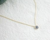 clear crystal stone necklace