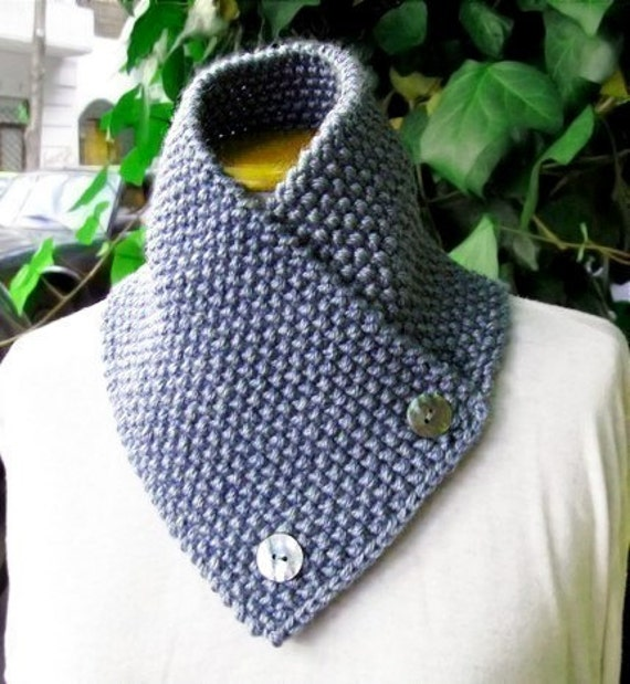 Knitting Pattern for knit scarf cowl or neckwarmer by lanadearg