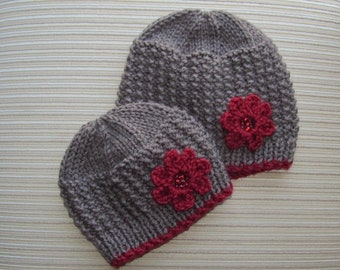Knitting Pattern #75 Rice Stitch Hat for a Girl