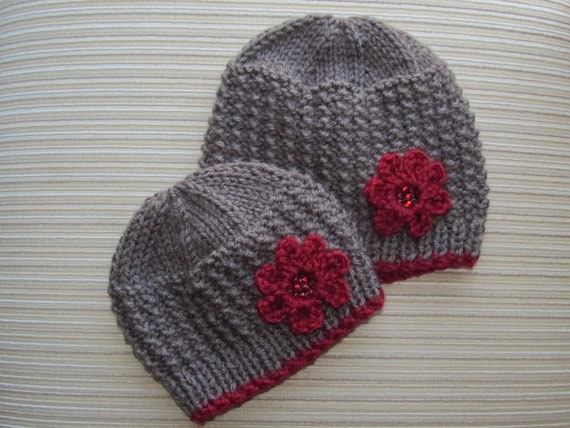 Number 75 KNITTING PATTERN Rice Stitch Hat for a Girl