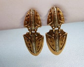 Vintage Modernist Abstract Earrings Mexico by Ixel