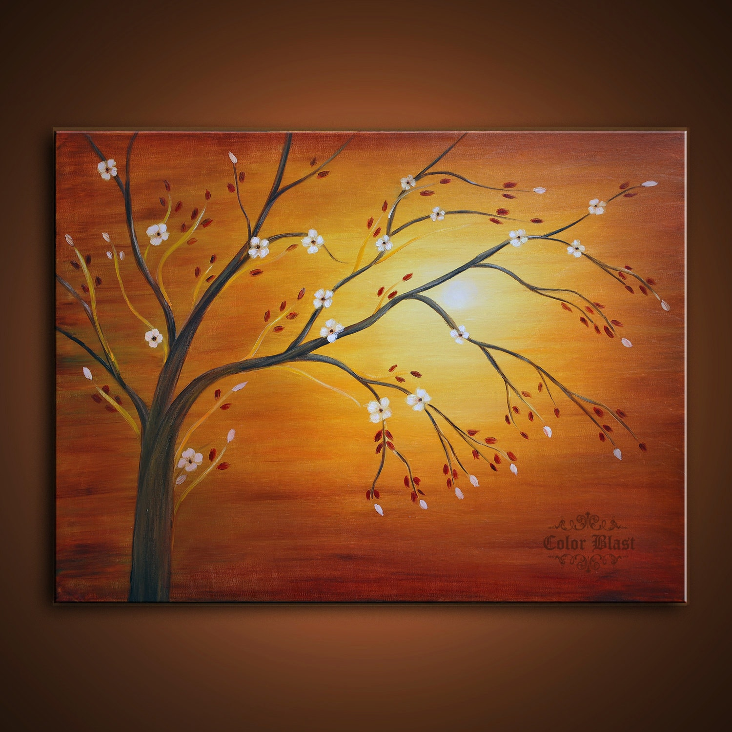 original oil painting contemporary abstract landscape modern