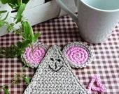 Crochet Mouse Coasters (set of 4)