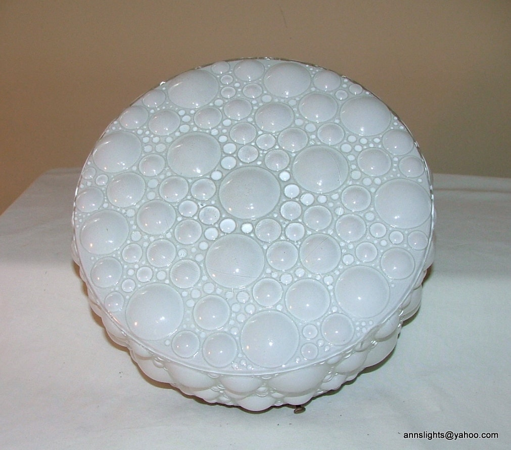 Ceiling Lamp Glass Cover: Vintage Glass Ceiling Light Cover Globe White Bubble Shade
