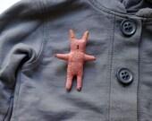 Bunny. Brooch.