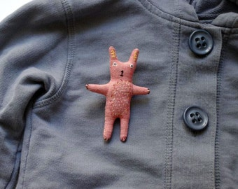 SALE. Bunny. Brooch.