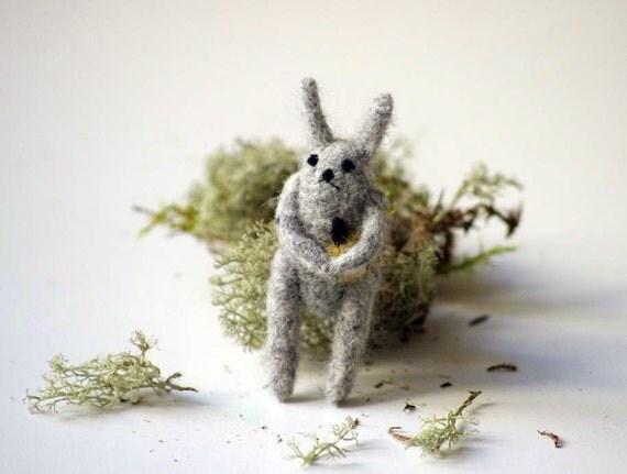 Rabbit diet. Brooch.