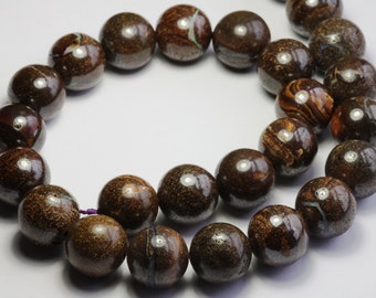 brown buolder opal round 16mm