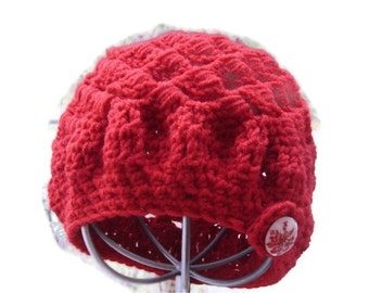Garnet Red beret Cap for her