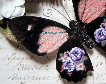 Butterfly Embellishments Lavender Rose