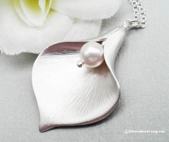 Calla Necklace Sterling Silver