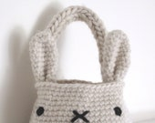 bunny rabbit basket bag - crochet pattern - PDF