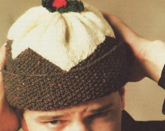 Knitting Pattern Christmas Pudding Hat Baby : Pudding hat Etsy