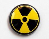 Radiation Symbol - Button Pinback Badge 1 inch