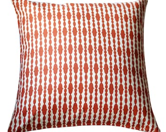 Organic Pillow Cover - Raindrops Mandarin