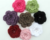 Crochet Flowers - Knit Flowers - Add Interchangeable Flowers to Your Boutique Beanie Order