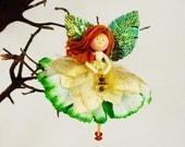 Green Fairy Ornament, Green Christmas, Irish Fairy, Irish Christmas, Green Fairy Doll, Ireland Colors, Good Luck Fairy, Petalbelles