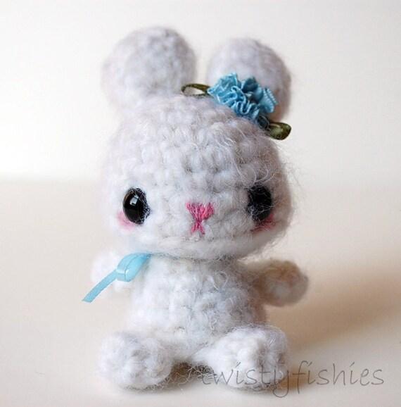 Etsy Amigurumi Bunny : SALE White Bunny Kawaii Amigurumi Plush