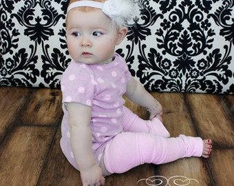 Pink Bamboo Baby Leg Warmers