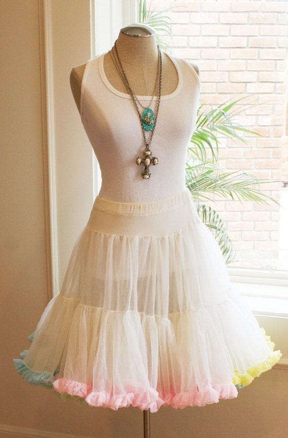 Sweet Sweet Flirty Fun - Mulit Colored Pastel Petticoat - Ruffles - Crinoline
