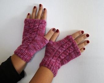 amaranto guanti senza dita