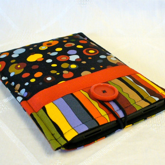 KINDLE Case Ebook Case Kindle Fire Cover Padded Kindle Sleeve Luella Doss Hot Flash Fabric Mod Ready to Ship