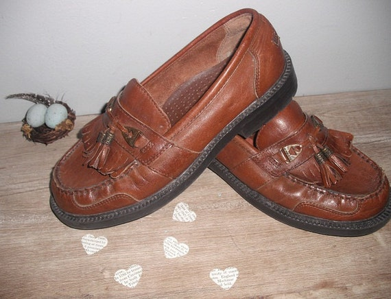 vintage leather Earth Shoes Tassel loafers ... comfortable 7
