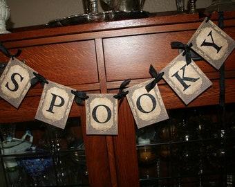Halloween Banner, SPOOKY.