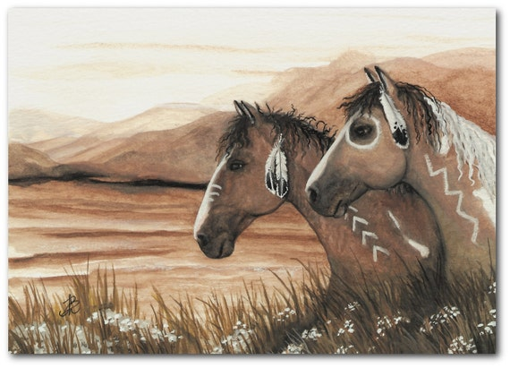 Mustang horse painting - photo#33