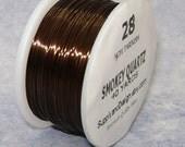 28 Gauge Smokey Quartz Non Tarnish Permanently Colored Enameled Wire, 120 feet