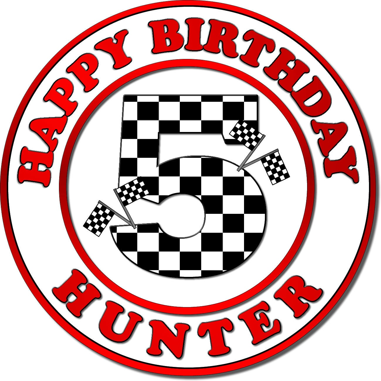 Custom Checkered Flags Motif Race Car Stickers Race Car Birthday
