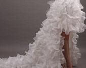 Classic White Strapless Sweetheart High & Low Chiffon Wedding Dress - REN10B39