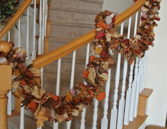 Fall Garland with ornaments,Autumn Garland,Fall Autumn wall hanging,Door Hanging,Party decoration