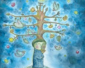 December tree for your soul - limited edition archival print