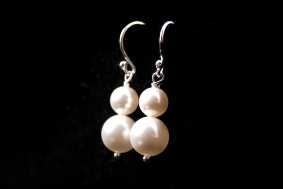 Wedding Jewelry Simplicity Double Pearl Earrings