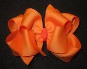Orange Hairbow, Large Hair bows, girls hairbows, Fall Hair Bow, Big Hairbows, Hairbows, Boutique Hair Bow, Boutique Hairbow, hair bows