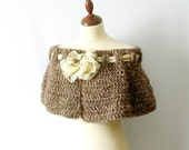 Brown Capelet Blended Brown Cowl