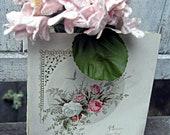 Antique Valentine's Day card by L.Prang Co.,1887 valentine card, pocket card with Valentine stamp, valentine ephemera, victorian valentine