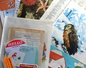 SALE 3kg Bulk Ephemera Lot - vintage & current - FREE SHIPPING
