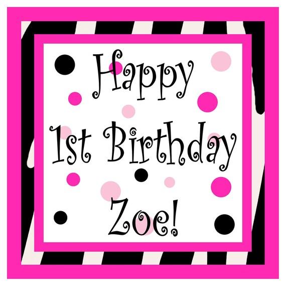 Items Similar To Zebra Print Happy Birthday Door Sign