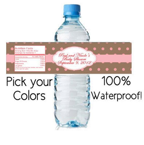 Water Bottle Labels Waterproof Custom Baby By Digitaldoodlebug