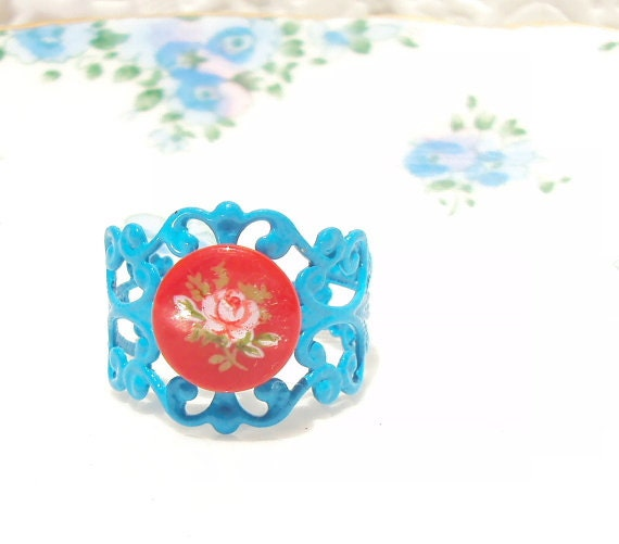 50% OFF - Stella - Vintage Rose Cameo Ring
