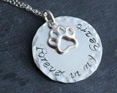 Pet Loss Necklace - Pet Memorial Necklace - Pet Memory Necklace - Silver Pet Necklace - Pet Remembrance Necklace - Dog Necklace