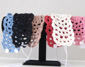 Lacy Cuff Bracelet Crochet Jewelry Crocheted Handmade Ladies Girls Teens You Choose Color
