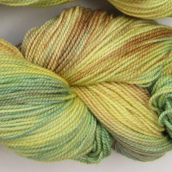 Jackrabbit 4oz hand dyed sock yarn fingering weight, 2ply superwash merino, 114g: Silver Birch 3