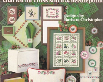 Leisure Arts Berry Designs and Borders for Cross Stitch and Needlepoint Pattern Leaflet 198 Vintage
