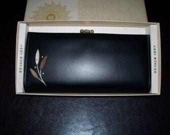 Lady Buxton Purse French Clutch New In Box Vintage 1970 Top Grain Cowhide